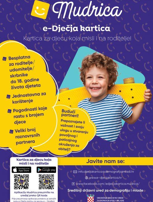 MUDRICA – e-dječja kartica